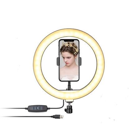 טבעת תאורת לד איכותית לצילומי סלפי / שידורי לייב / צילומים - שילוב לכל חצובה Professional Live Stream