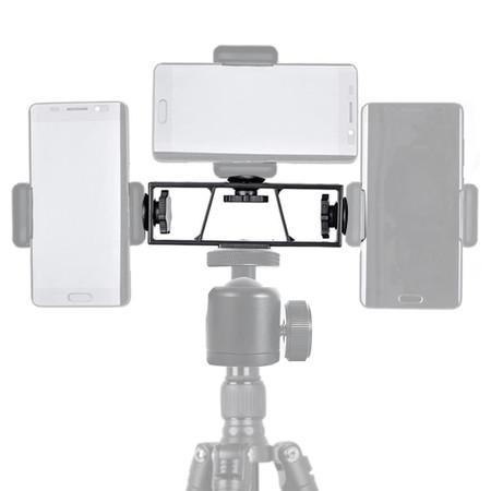 חצובה לצילומים / שידורי לייב המאפשר חיבור עד שלושה סמארטפונים