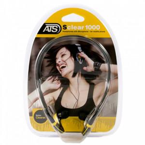 אוזניות איכותיות עם מיקרופון - קשט גמישה סביב העורף ליציבות מרבית - STEREO SOUND