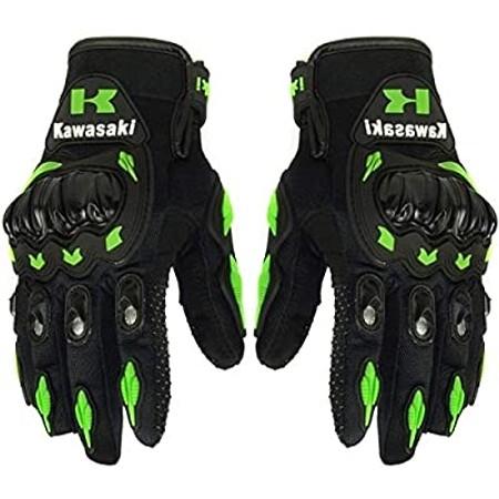זוג כפפות רכיבה מקצועיות לרוכבי אופנוע - הגנה בנפילות ומונעות החלקה