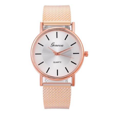 שעון קלאסי לאישה רצועת סיליקון במראה עדין לאישה