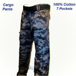 """מכנס דגמ""""ח במראה צבאי 100% כותנה איכותית בשילוב 7 כיסים - במבחר מידות"""