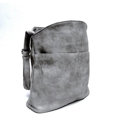 תיק צד קלאסי לאישה עור PU צבע אפור - שימושי ליום יום
