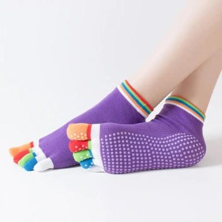 זוג גרבי יוגה & פילאטיס מקצועיות למניעת החלקה במבחר צבעים