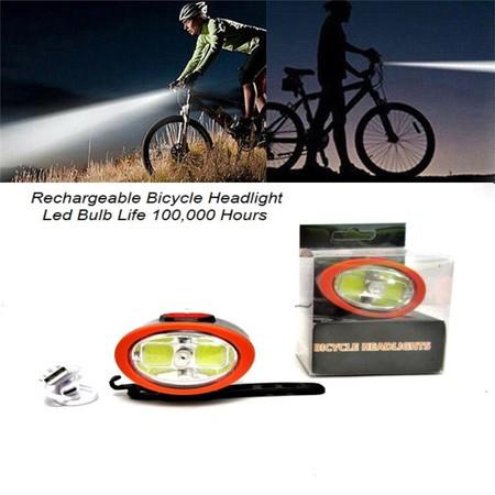 פנס לד איכותי לאופניים / אופניים חשמליים - טעינה USB