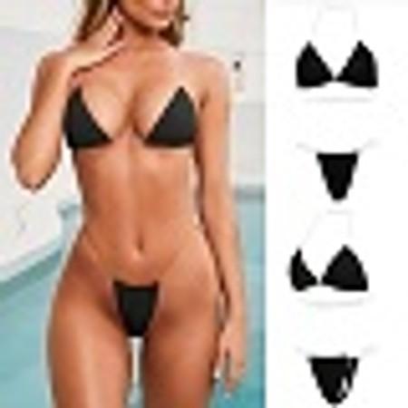בגד ים חוטיני G-sting עם רצועות סליקון שקופות לסגירה Invisible sting במבחר דגמים