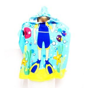 מגבת רחצה קפוצ'ון לילדים קטנים - לים / בריכה דגמים לבנים ובנות