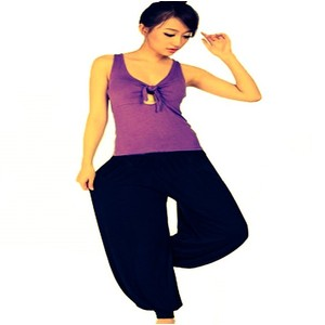 מכנסי יוגה איכותיות 100% כותנה גזרה רחבה תואם L-XL במבחר צבעים