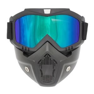 משקפי סקי / גוגל לסקי לכיסוי הפנים עם פתחי אוורור - מסנן קרינה 400UV ומונע אדים