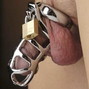 Jail חגורת צניעות לגבר ממתכת עם כלוב הכוללת 3 טבעות בגדלים שונים