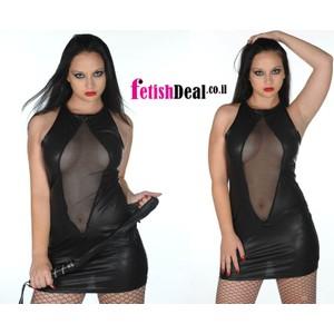 שמלה סקסית וחשופה שחורה one size