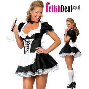 שמלת משרתת צרפתייה סקסית