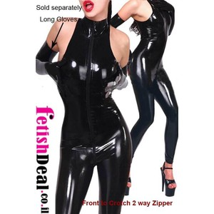 חליפה שחורה סקסית מבריקה
