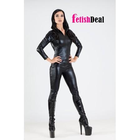 Full Body Catsuit בגד גוף שלם שחור מבריק