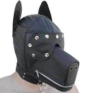 מסכת כלב קינקית עם רוכסן מחסום עיניים