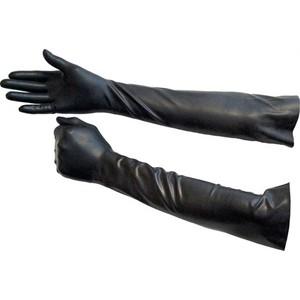 כפפות לטקס שחורות סקסיות ארוכות וחזקות