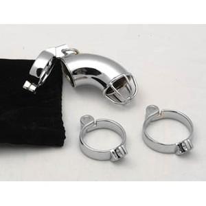 Grid חגורת צניעות לגבר ממתכת עם 3 טבעות ומנעול