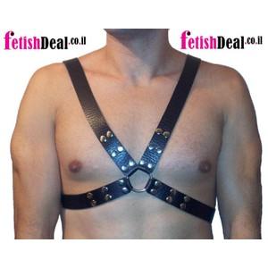 Hard X harness הרנס מקצועי לגבר מעור קשיח עבודת יד