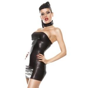 שמלת סטרפלס קינקית One Size (בד גמיש ומבריק)