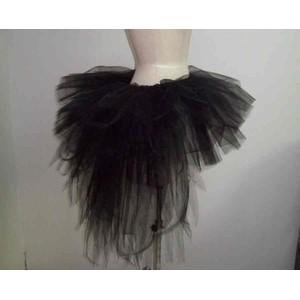 חצאית בורלסק שחורה - 4 מידות