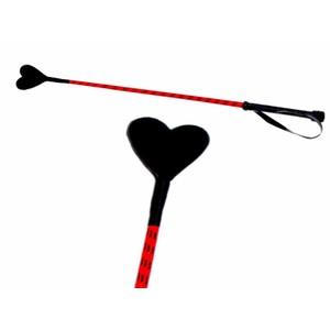Heart Riding Crop שוט רכיבה אדום עם ספנקר בצורת לב