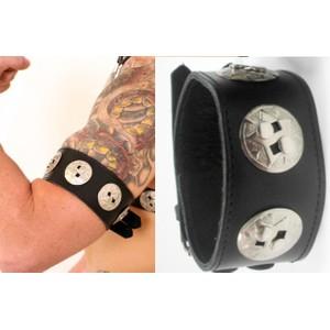 Colt Biceps בסגנון גלדיאטור מעור שחור באיכות פרימיום עבודת יד