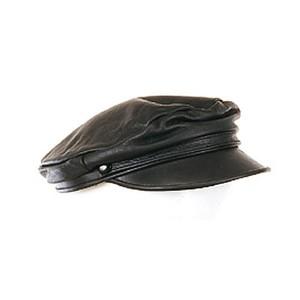 כובע שוטר שחור מעור איכותי
