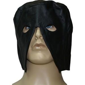 מסכת עור שחורה חצי ראש ארוכה