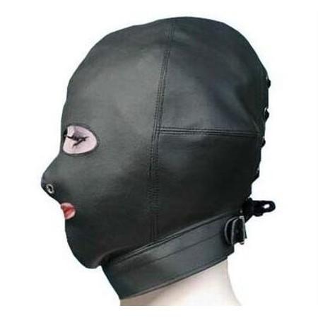 מסכת דמוי עור קינקית לכל הראש עם פתח לפה ולעיניים