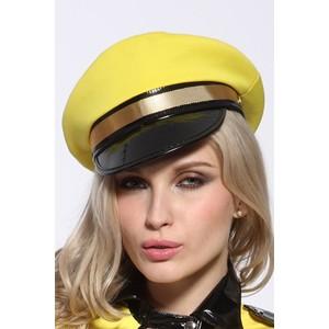 כובע קסקט סקסי בצבע צהוב למשחקי תפקידים מדליקים