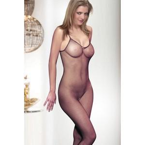 גרביון גוף רשת שחורה סקסי פתחים קדמי אחורי ובצדדים one size