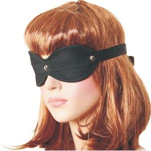 מסיכת עיניים שחורה מבד עם עיטורי ניטים עשויה בד נעים ורך