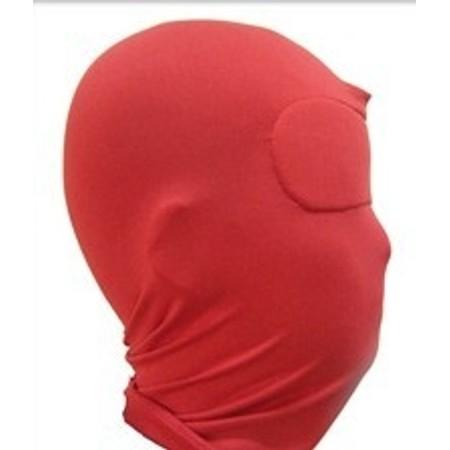 מסיכת פנים אדומה עם כיסוי עיינים מלא