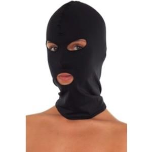 מסיכת פנים מלאה בצבע שחור מבד אלסטי נושם