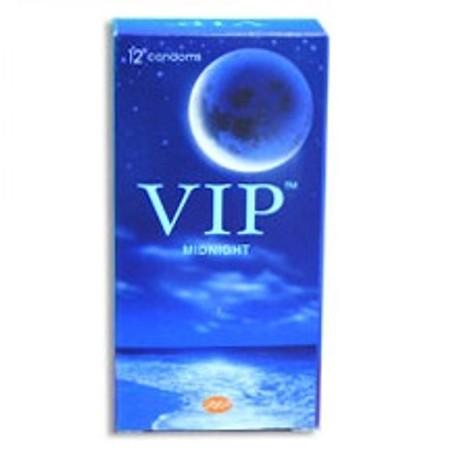 12 קונדומים פשוטים - מומלץ להלבשה על צעצועים VIP Midnight