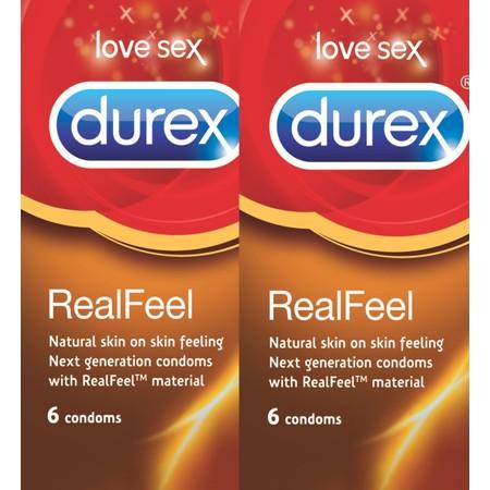 16 קונדומים ללא לטקס לתחושת מגע טבעית Durex Real Feel
