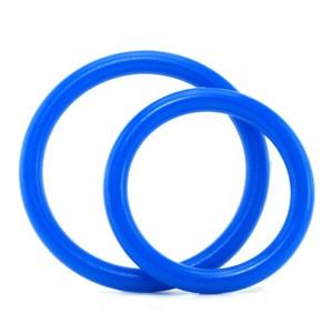 סט 2 טבעות קוקרינג מסיליקון קוטר 3.5, 4.5 Blue Line