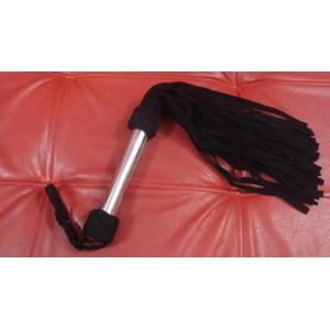פלוגר מזמש שחור עם ידית מתכת 36 זנבות אורך 60 סמ