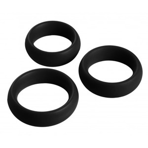 סט 3 קוקרינג מסיליקון שחור בקוטר 4, 4.5, 5 סמ