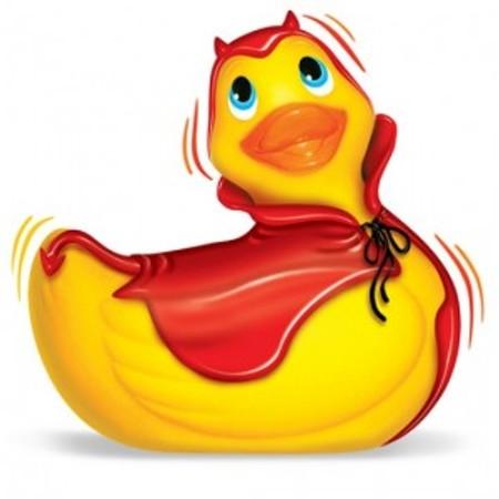 I Rub My Duckie ויברטור מסז'ר בצורת ברווז תמים לאמבטיה