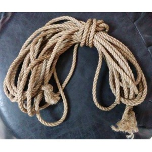 Jute Rope חבל יוטה מעובד בעבודת יד אורך 8 מטר עובי 50 ממ