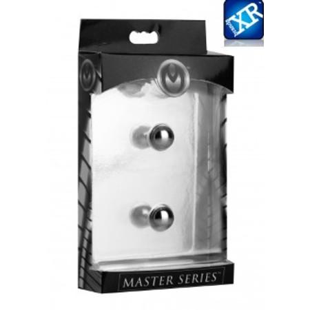 Magnus XL מצבטי פטמות מגנטיים עוצמתיים ומכאיבים קוטר 0.5 סמ Master Series