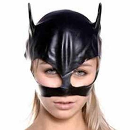 מסיכת חתול סקסית עשויה PVC שחור