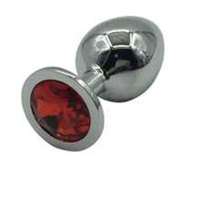 פלאג מתכת עם אבן אדומה M