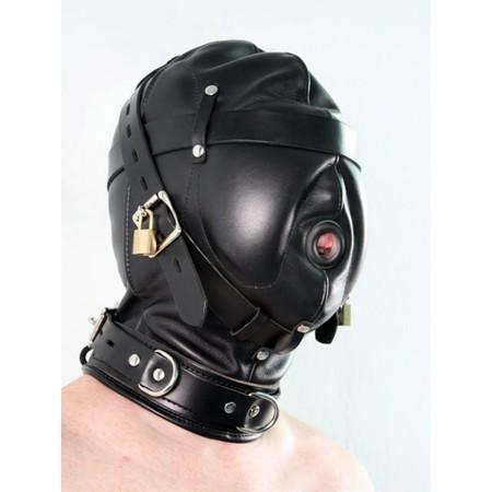 מסכת פטיש איכותית מעור פרימיום עם כיסוי לעיניים ופתח לפה
