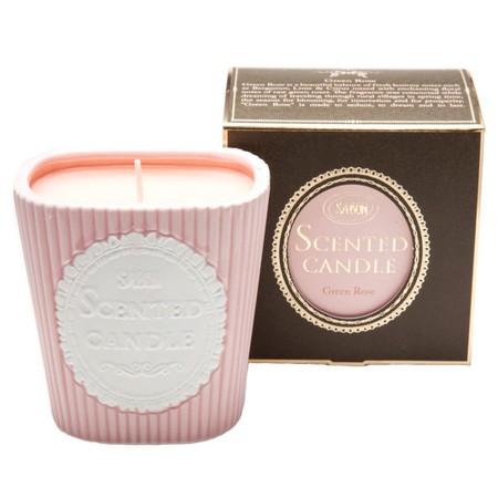 Scented Candle נר רומנטי בניחוח ורד ירוק Sabon