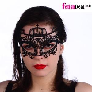 מסיכת עיניים סקסית בסגנון תחרה שחורה