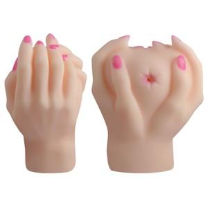ידיים ריאליסטיות לאוננות עם חור קטן באמצע מסייבר סקין  אורך כולל 18 סמ