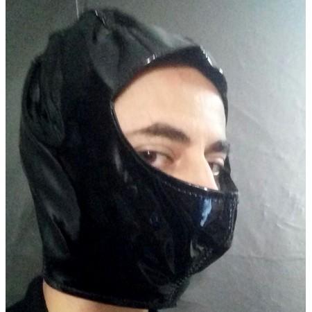 מסיכת נינגה עשויה PVC שחור מבריק