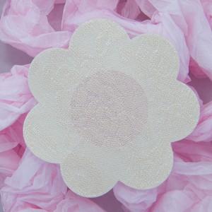 כיסוי פטמות פרח תחרה לבן